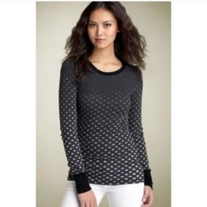 Free People Faded Stars Black Ombre Thermal Top